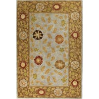 Sara Light Blue/Multicolor Wool Tufted Area Rug - 2'6 x 8'