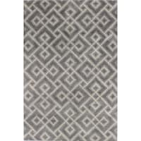 Hope Grey Wool and Cotton Tufted Area Rug - 2'6 x 8'