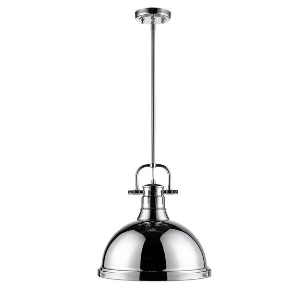 Golden Lighting Duncan 1-light Chrome Steel Pendant