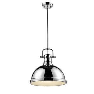 Golden Lighting Duncan 1-light Chrome Steel Pendant