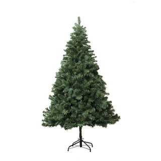 Astella Douglas Fir Green Branches and Tips 6-foot Hinged Artificial Christmas Tree With Steel Stand