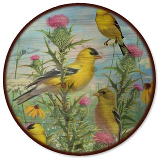 WGI Gallery 'Golden Glories' Wood Lazy Susan