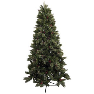 Astella 7.5' Pre-Lit Artificial Christmas Tree with Ornaments and Stand