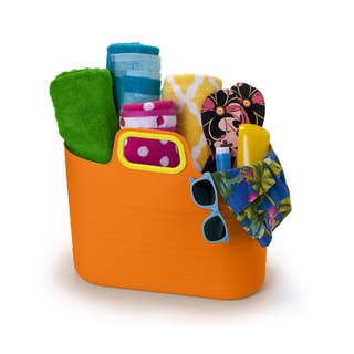 David Tutera Orange Plastic 7 gal. Party Storage Tote
