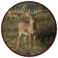 WGI Gallery First Light Buck Multicolor Wood and Steel Lazy Susan