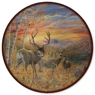 WGI Gallery Dream Maker Mule Deer Wood Lazy Susan