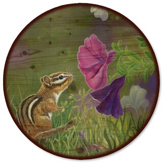 WGI Gallery 'Chipmunk in the Garden' Multicolor Steel and Wood Lazy Susan