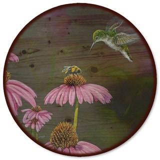 WGI Gallery 'Competition Bee Hummingbird' Wood Lazy Susan