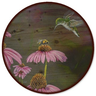 WGI Gallery 'Competition Bee Hummingbird' Wood Lazy Susan