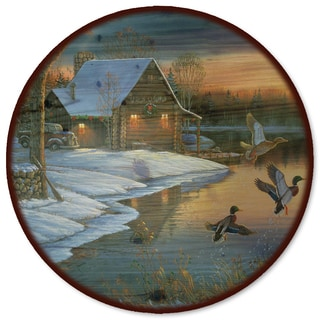 WGI Gallery 'Back Water Mallards' Wood Lazy Susan