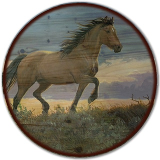 WGI Gallery 'Buckskin Stallion Here' Wood Lazy Susan