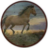 WGI Gallery 'Buckskin Stallion Here' Wood Lazy Susan