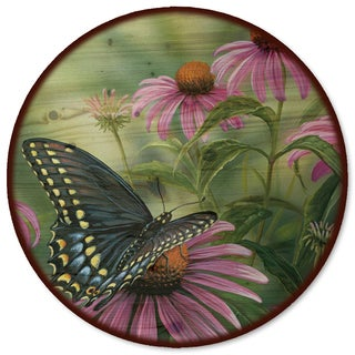 WGI Gallery Black Swallowtail Butterfly Wood Lazy Susan