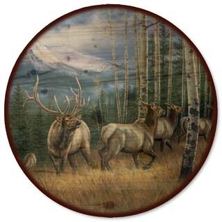 WGI Gallery Back Country Elk Wood Lazy Susan