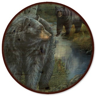 WGI Gallery 'Birchwood Bears' Multicolor Metal/Wood Lazy Susan