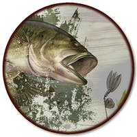 "WGI Gallery 'Bass' Wood Lazy Susan - 18""d"