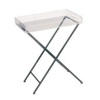 Urban Designs Clear Acrylic Tray Top Accent Table