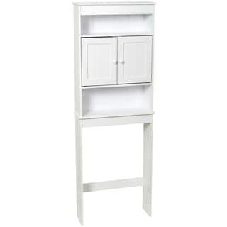 "Zenna Home 9119W 23.2"" X 66.5"" X 7.75"" White County Cottage Style Spacesaver"