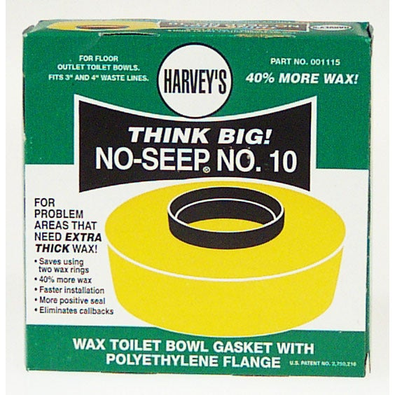William H. Harvey 001115-24 Wax Toilet Bowl Gasket With P...