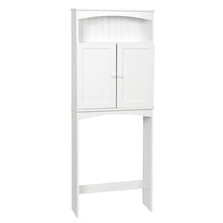 "Zenna Home 9107W 24.63"" X 64.75"" X 8.63"" White Cottage Collection Spacesaver"