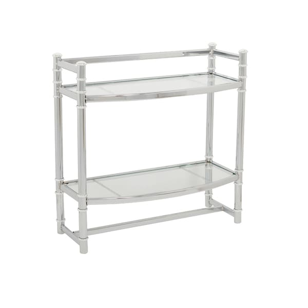 Zenna Home 9012SS Chrome Wall Shelf With Tempered Glass Shelves ...