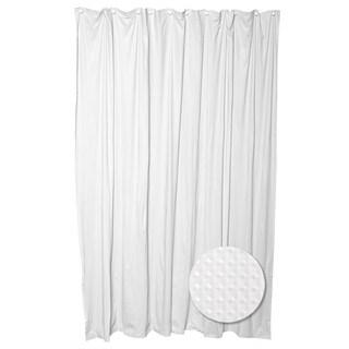 Zenna Home H21WW04 70 W x 72 H White Luxury Spa Fabric Shower Curtain