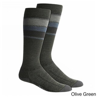 Wigwam Unisex Green/Grey Wool/Spandex Large Fusion Socks (4 options available)