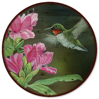 WGI Gallery 'Opening Day Hummingbird' Wood Lazy Susan