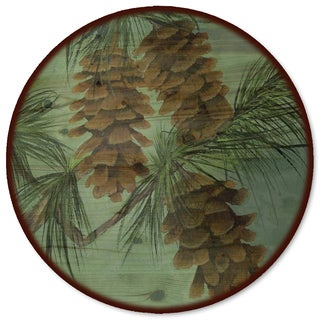 WGI Gallery 'Pine Cone New' Wood Lazy Susan