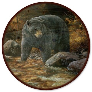 WGI Gallery Streamside Bear Wood/Steel Lazy Susan
