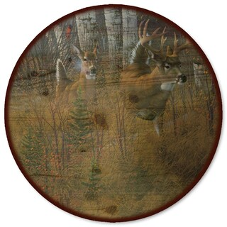 WGI Gallery 'Play the Wind' Wood Lazy Susan with Steel Base