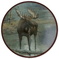 WGI Gallery Quiet Water Moose Wooden Lazy Susan