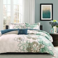 Mi Zone Skylar Blue/Grey Printed Duvet Cover Set