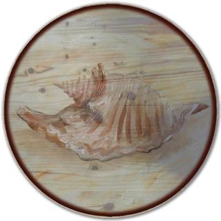 WGI Gallery 'Sea Shell #3' Wood Lazy Susan