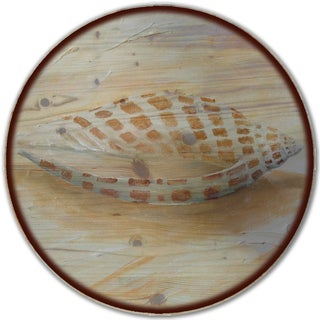 WGI Gallery Sea Shell 4 Wood Lazy Susan