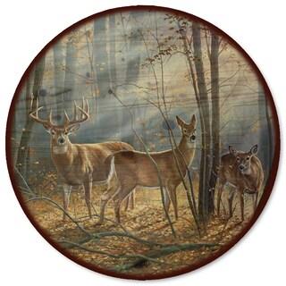WGI Gallery 'Woodland Splendor' Multicolor Metal and Wood Lazy Susan
