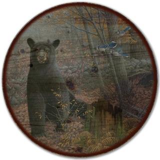 WGI Gallery Stonewall Black Bear Wood Lazy Susan