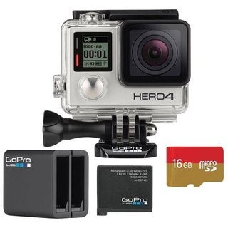 GoPro HERO4 Silver 16GB Dual Battery Charger Bundle