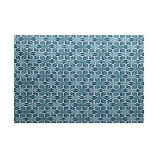 Water Mosaic Geometric Print Indoor, Outdoor Rug - 2' x 3'