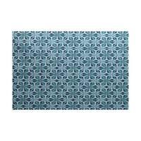 Water Mosaic Geometric Print Indoor, Outdoor Rug (2' x 3')