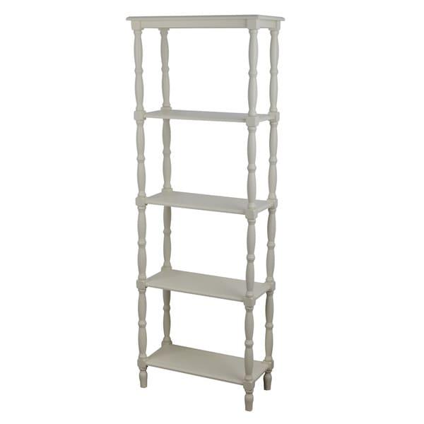 Simplify Off White MDF And Veneer 3 Tiered Bookshelf