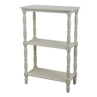 Decor Therapy Simplify White MDF 3-tiered Bookshelf