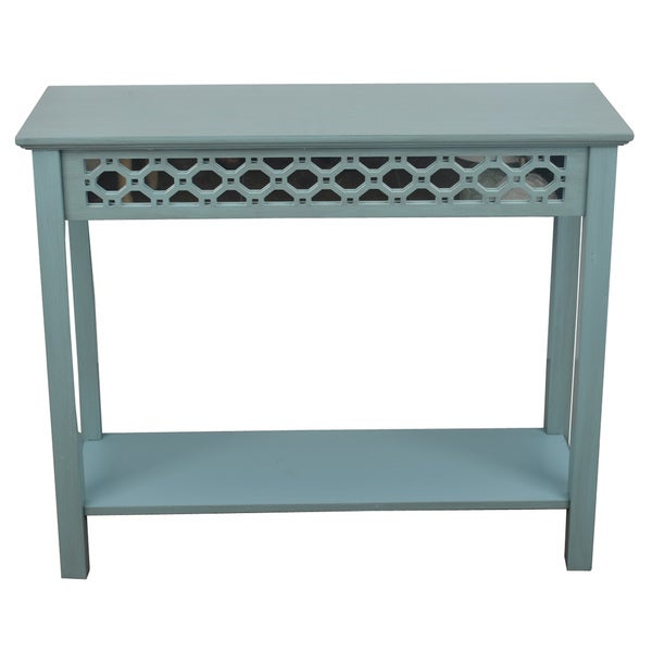 Decor therapy mirrored console table free shipping today 19656574 - Mirrored console table overstock ...