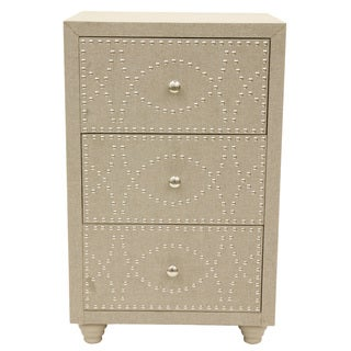 Linen Nail Head Accent Chest