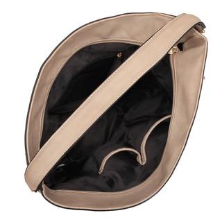 Dasein Fringe Studded Faux Leather Hobo Handbag