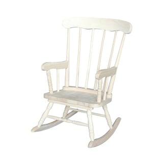 Tan Wood/Veneer Juvenile Rocking Chair