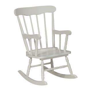 White Wood Juvenile Rocking Chair