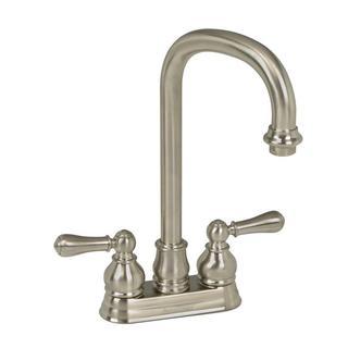 American Standard Hampton 2-Handle Bar Faucet in Satin Nickel