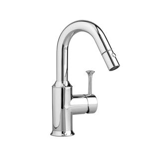 American Standard Pekoe Single-Handle Bar Faucet with Pull-Down Sprayer in Polished Chrome