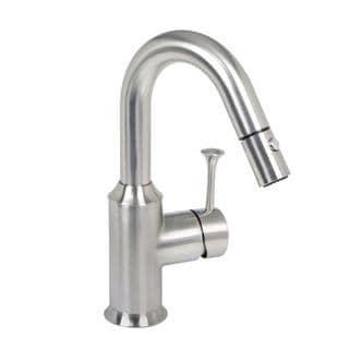 American Standard Pekoe Single-Handle Bar Faucet with Pull-Down Sprayer in Stainless Steel